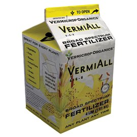 Vermicrop Organics Vermicrop Organics VermiAll Broad Spectrum Dry Fertilizer 4 lb