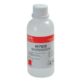 HANNA HANNA TDS Calibration Solution, 1382 ppm, 230 mL