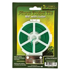 Smart Support Smart Support Plant Twist Tie with Cutter, 164'