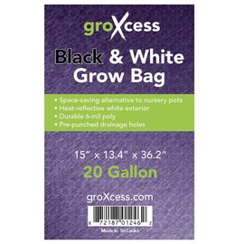 groXcess GroXcess Black and White Grow Bags 20 gal