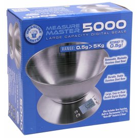 Measure Master Measure Master 5000g Digital Scale w/ 1.6 L Bowl - 5000g Capacity x 0.5g Accuracy