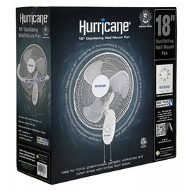 Hurricane Hurricane Supreme Oscillating Wall Mount Fan 18 in (36/Plt)