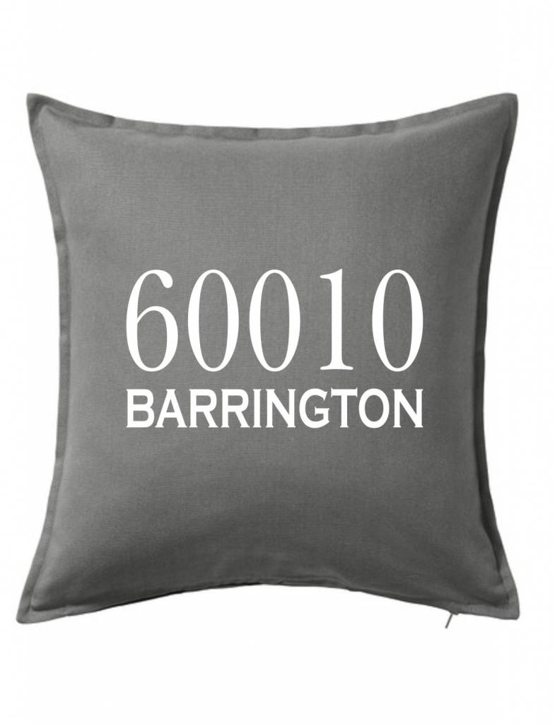 Gray Custom Pillow-2B-Traditional Zipcode