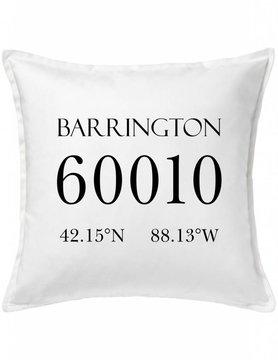 Custom Pillow-6A-Zip Code & Coordinates