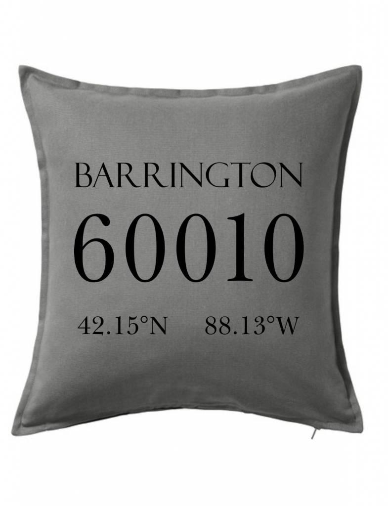 Gray Custom Pillow-6B-Zip Code & Coordinates