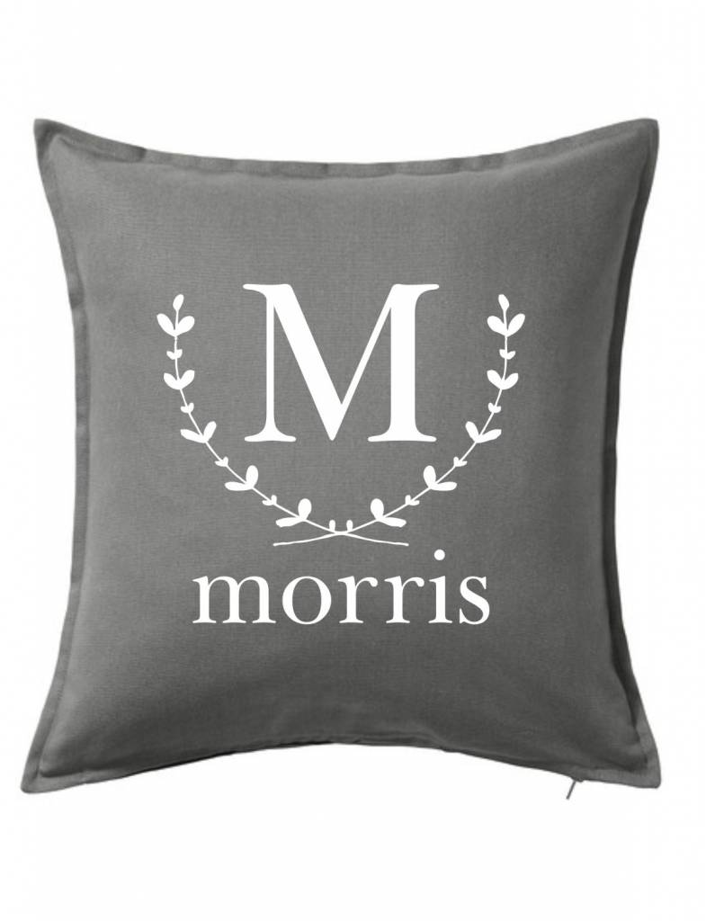 Custom Pillow-20B-Wreath Initial and Name