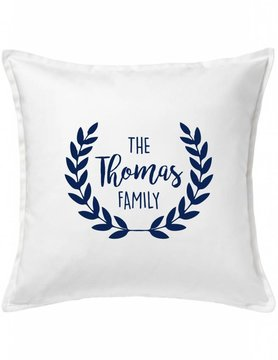 Custom Pillow-21A-Classic Family Wreath
