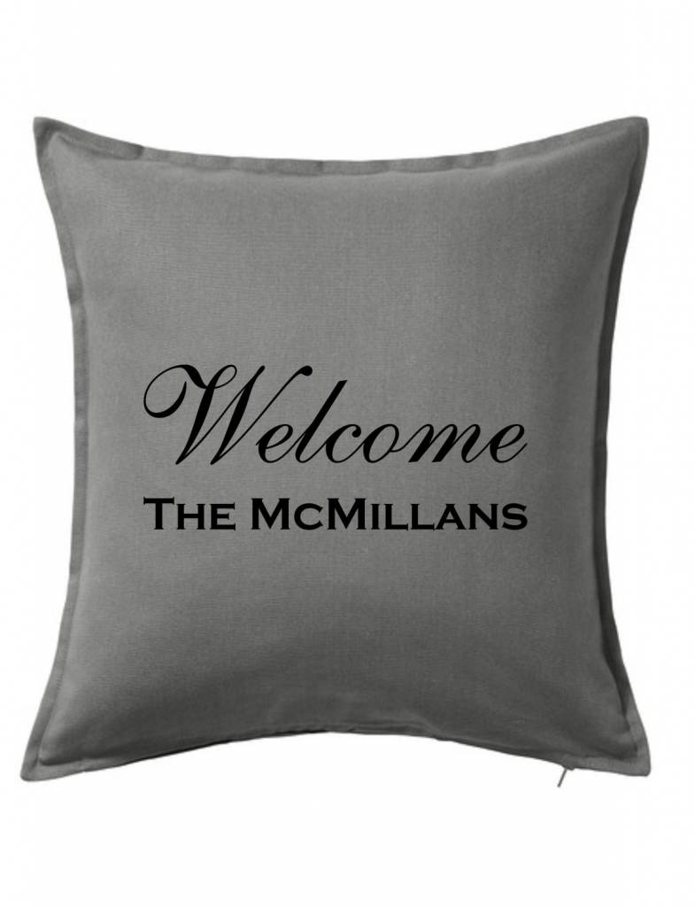 Gray Custom Pillow-30B-Welcome