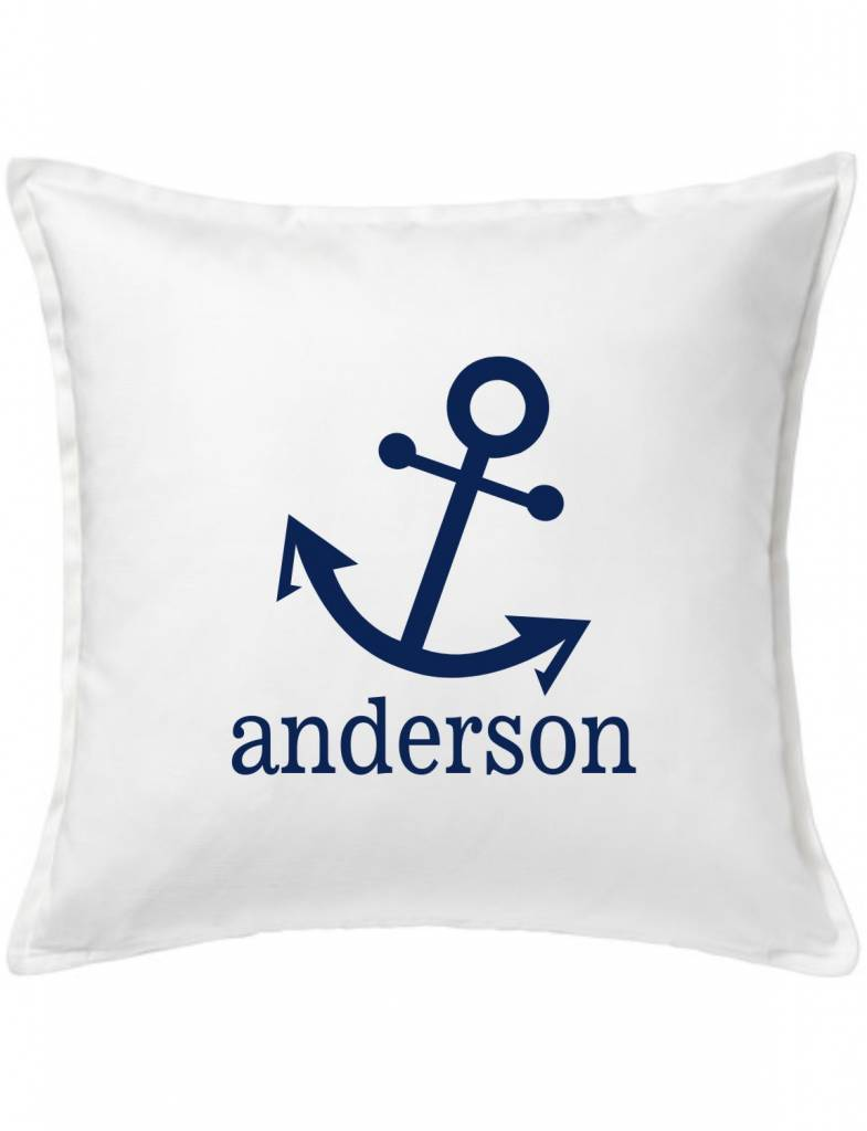 White Custom Pillow-31A-Anchor Family