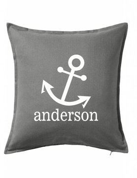 Gray Custom Pillow-31B-Anchor Family