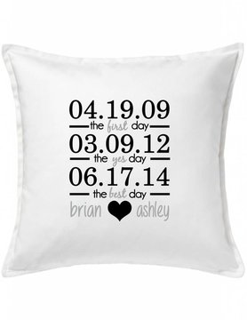 White Custom Pillow-39A-First, Yes, Best Day