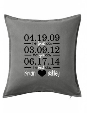 Custom Pillow-39B-First, Yes, Best Day