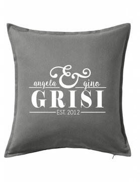 Gray Custom Pillow-43B-Established Couple