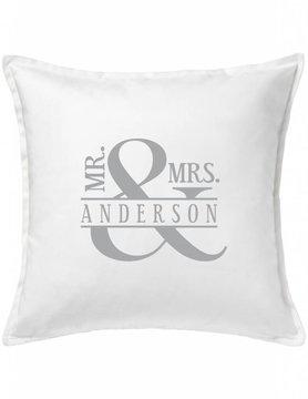 Custom Pillow-44A-Mr. & Mrs. Ampersand
