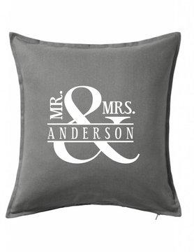 Custom Pillow-44B-Mr. & Mrs. Ampersand
