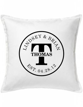 Custom Pillow-45A-Initial Couple