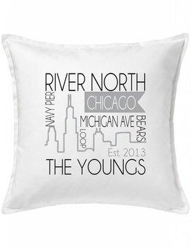 Custom Pillow-53-Chicago Skyline
