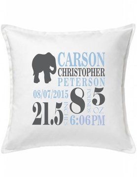 White Custom Pillow-66A-Elephant Announcement