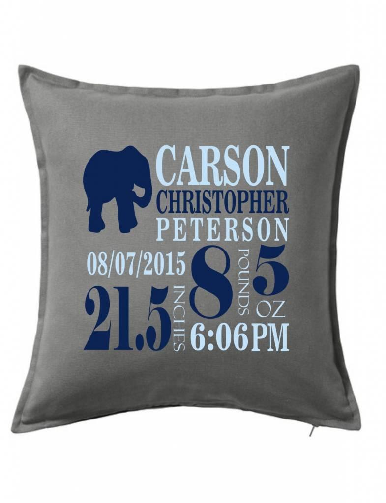 Gray Custom Pillow-66B-Elephant Announcement