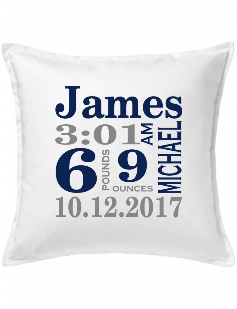 White Custom Pillow-70A-Traditional Announcement