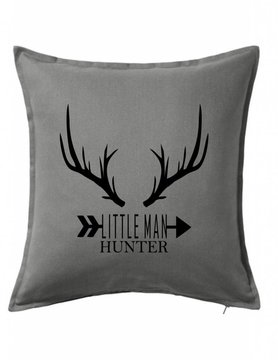 Gray Custom Pillow-73B-Little Man Hunter