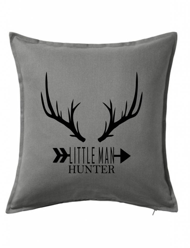 Gray Custom Pillow-73B-Little Man Hunter