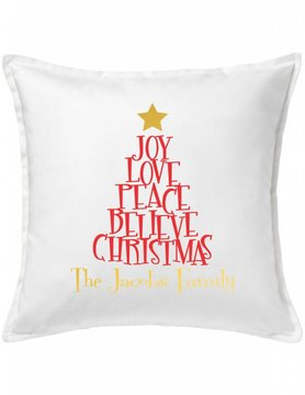 Custom Pillow-91-Christmas Tree of Words