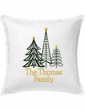 White Custom Pillow-92-Family Tree Forest