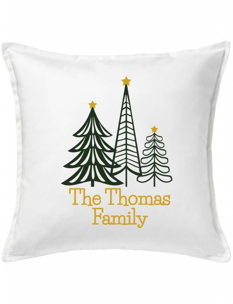 White Custom Pillow-92-Family Tree Forest