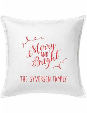 Custom Pillow-100A-Merry and Bright