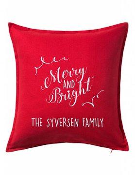 Custom Pillow-100B-Merry and Bright