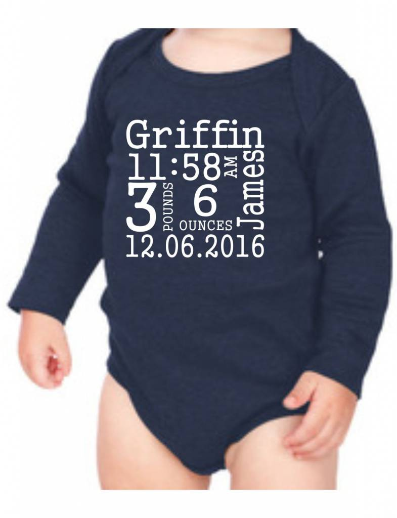 #634 Infant Long Sleeve Onesie-KID8-Gungsuh Announcement