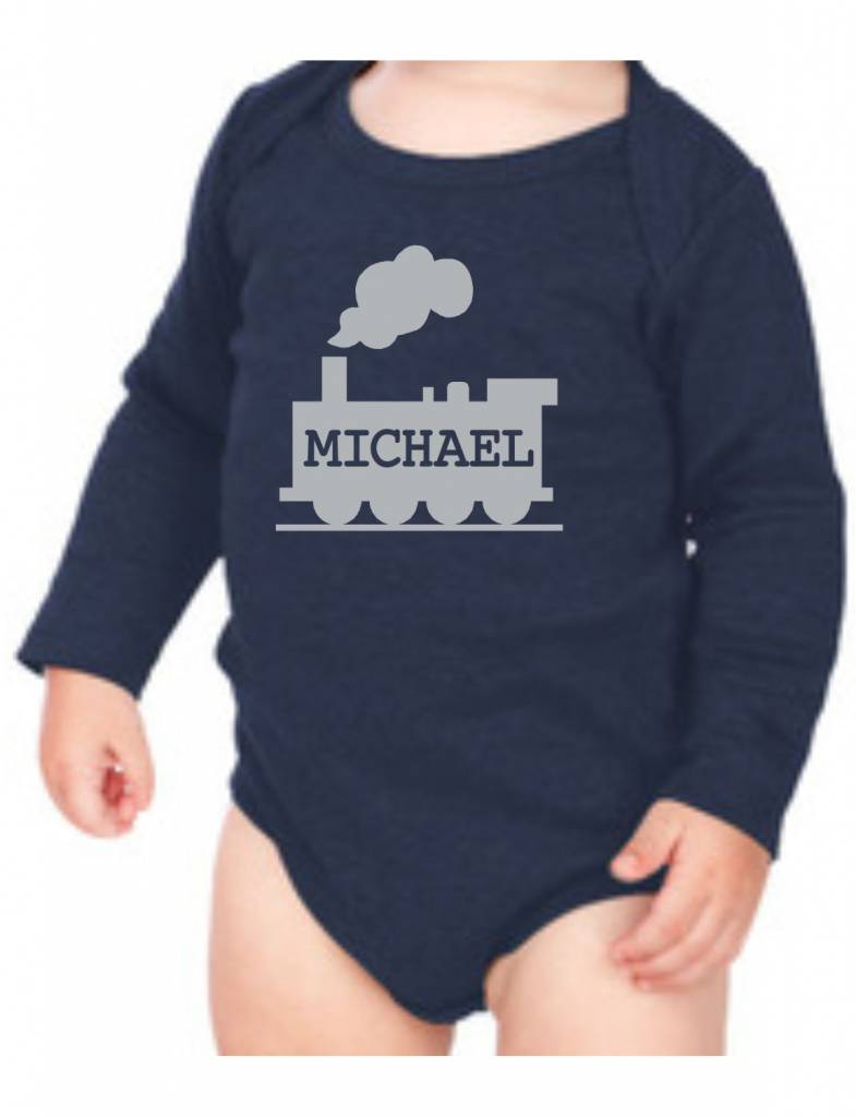 #634 Infant Long Sleeve Onesie-KID71-Choo Choo