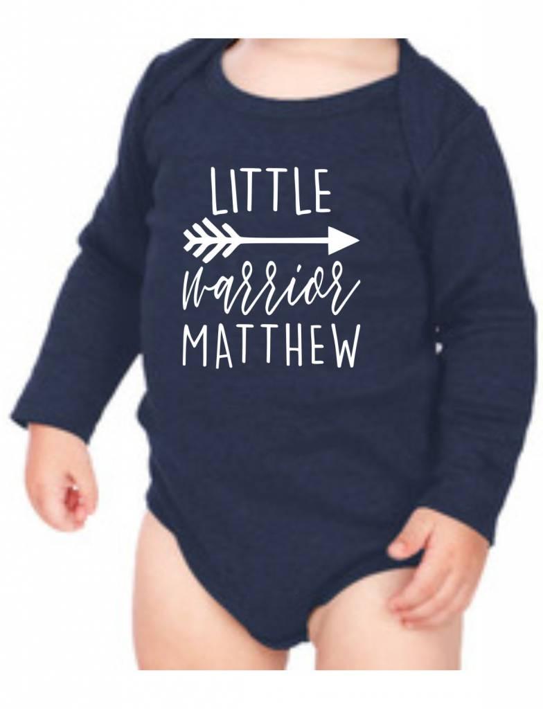 #634 Infant Long Sleeve Onesie-KID124-Little Warrior