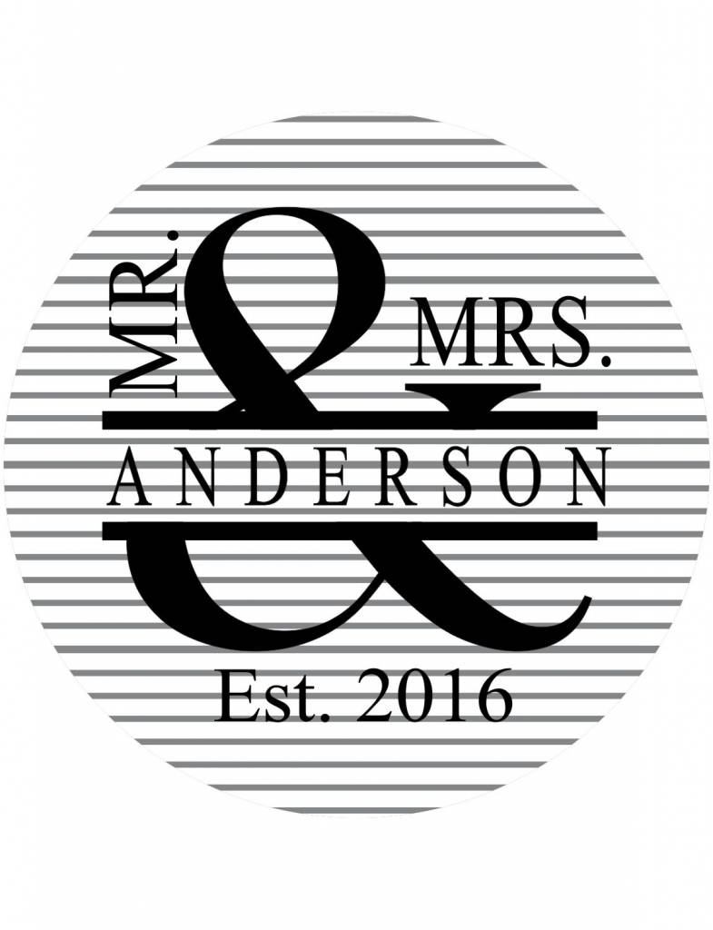Custom Glass Cutting Board-CUT4-Mr. and Mrs.