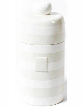 White Stripe Mini Canister