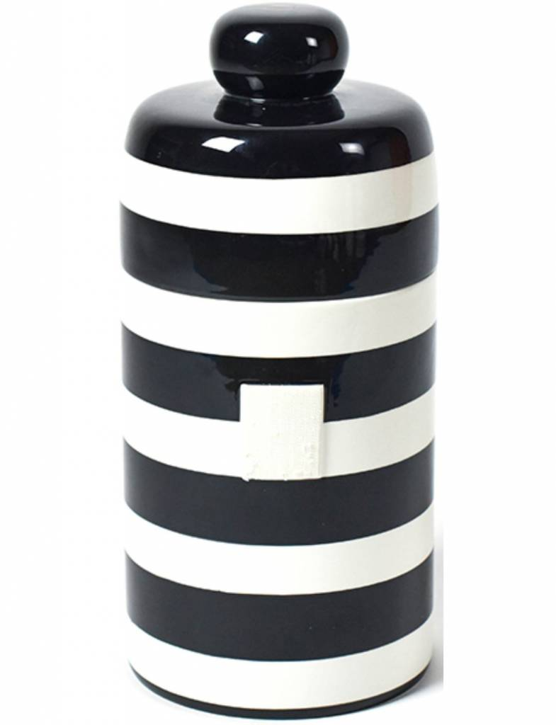 Black Stripe Happy Everything Mini Canister