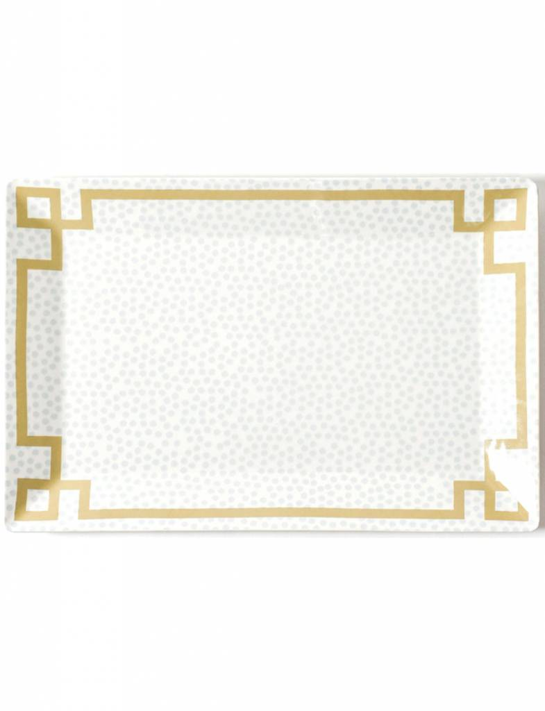 Smoke Small Dot Rectangle Platter
