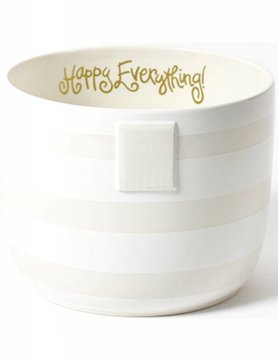 White Stripe Happy Everything Mini Bowl