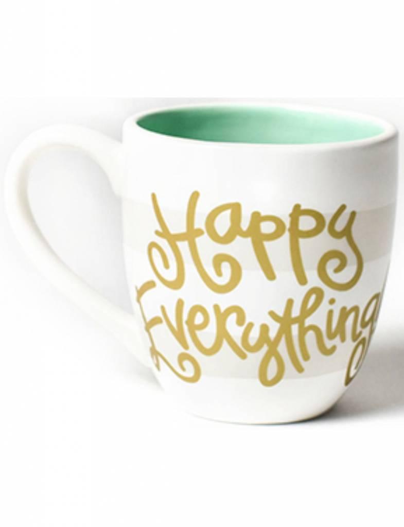 White Stripe Happy Everything Mug