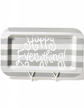 Stone Stripe Happy Everything Mini Rectangle Platter