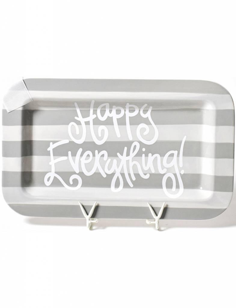 Stone Stripe Happy Everything Mini Rectangle Platter