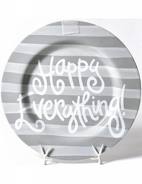 Stone Stripe Happy Everything Big Platter