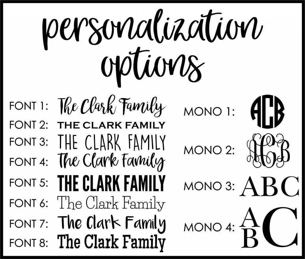 Neutral Plank Frame, Personalized
