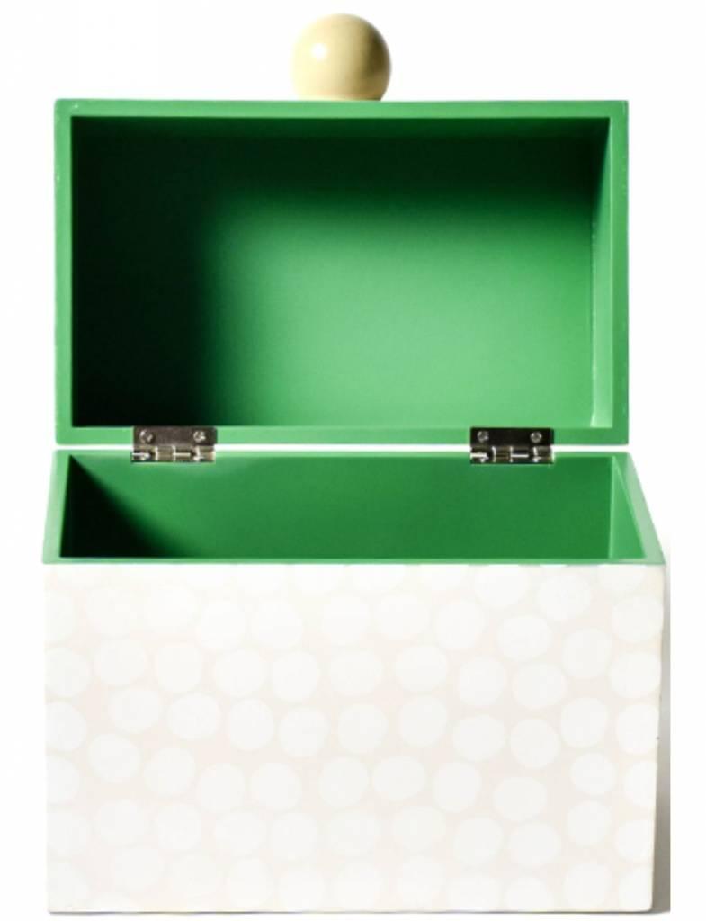 Pebble Recipe Box White