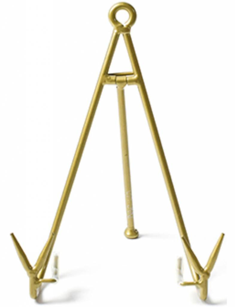 Gold Large Flare Plate Stand