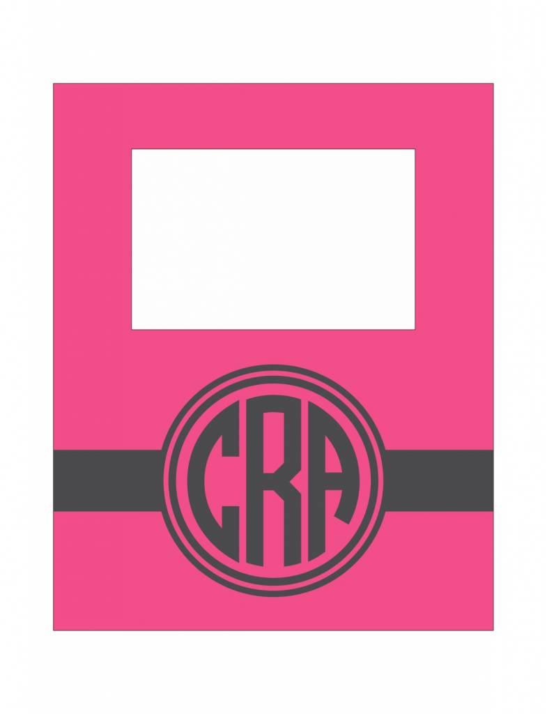 Custom Frame-FRM16-Circle Monogram