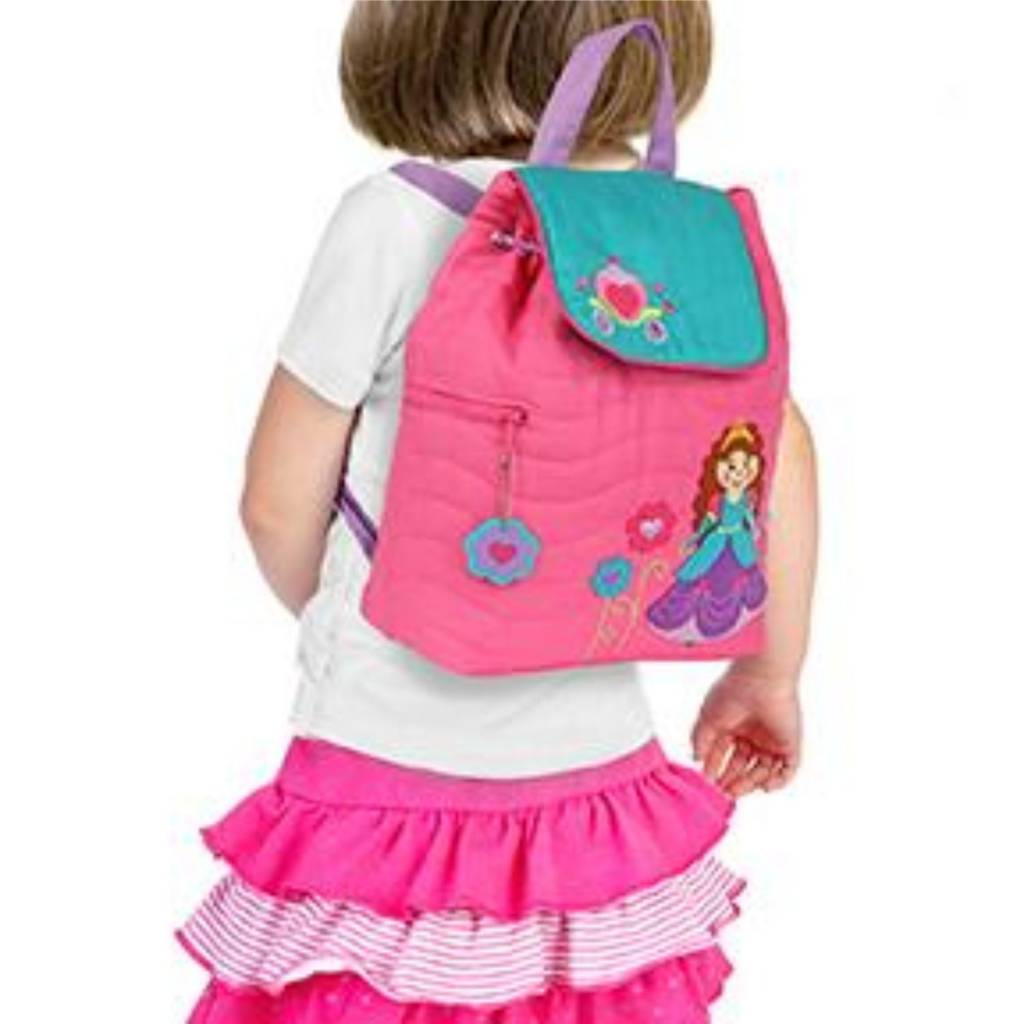 Quilted Backpack Princess Embroidered