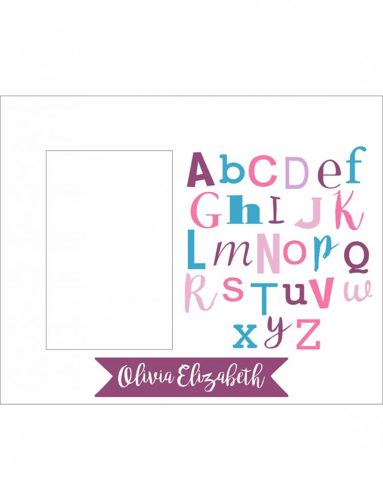 Custom Frame-KDF12A-Girl Alphabet