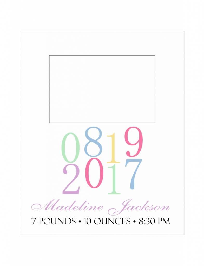 Custom Frame-KDF21-Simple Birth Announcement